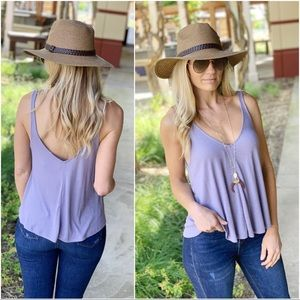 Infinity Raine Tops - ✨LAST ONE✨Lavender ribbed knit swing top